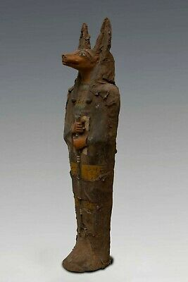 Rare EGYPT EGYPTIAN ANUBIS Antiques BIG STATUE Jackal Dog PHARAOH Mumia STONE BC