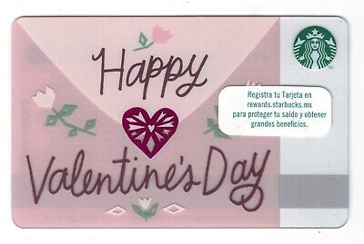 2016 - Happy Valentines Day Envelope Starbucks CANADA RELOADABLE GIFT CARD