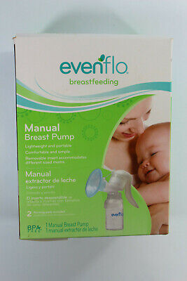 Evenflo Manual Breast Pump with 2 Nursing Pads