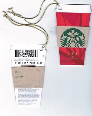 2014 - Mini Red Holiday Cup Starbucks CANADA RELOADABLE GIFT CARD