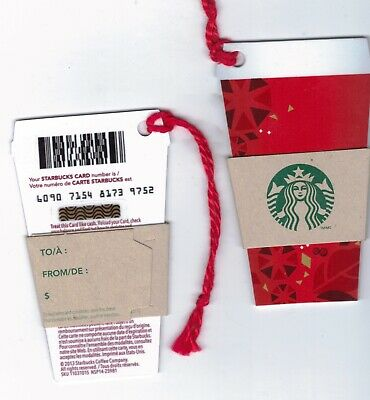 2013 - Mini Red Holiday Cup Starbucks CANADA RELOADABLE GIFT CARD