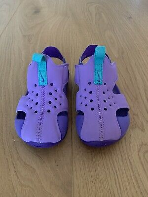 Nike Sunray Protect 2 Lilac Covered Toe Water Shoe Sandals Size US7C