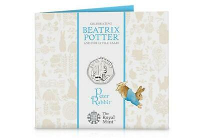 Peter Rabbit 2020 50p Fifty Pence Beatrix Potter BU coin in a Presentation Pack