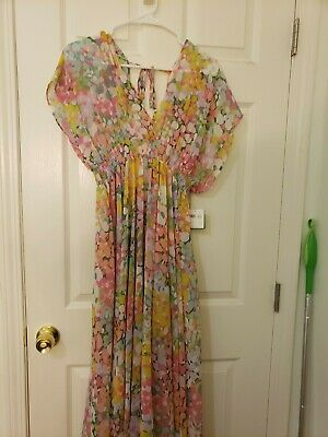 NWT Kate Spade Floral Dot Cover Up/ Midi Dress XS
