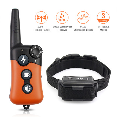 Ipets 619A Remote Dog Shock Training E Collar Rechargeable Waterproof  for S-XL