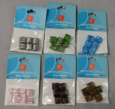 6 packets of glass beads   (Y14)