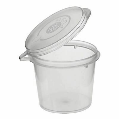 Disposable Plastic Takeaway Sauce Containers 300 Containers + 300 Lids:1 Oz 30ml