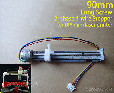 DC  5V 2-Phase 4-Wire Micro Precison Stepper Motor 90mm long Linear Screw Slider