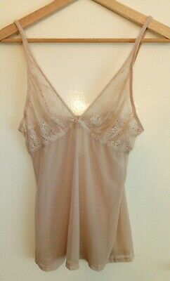 Oroton Blush Sheer Cami Size 12 Pre-owned