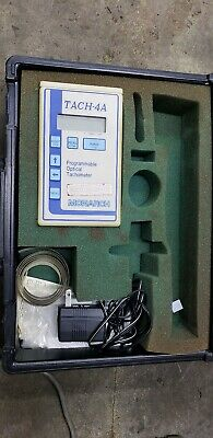 Monarch Tach-4A Digital Programmable Optical Tachometer  New Batteries and Case