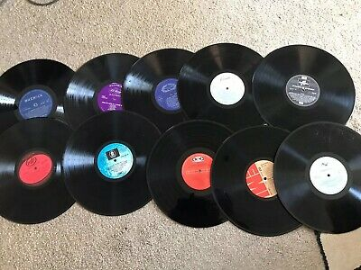 """Job Lot Bundle of 10 x 12"""" Vinyl LP Records for Upcycling Crafting Crafts"""