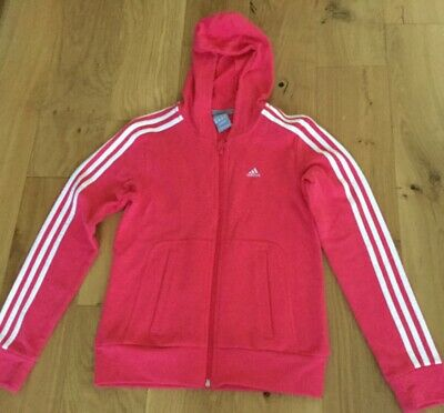 Adidas Pink Zip Up Girls Hoody 13-14 Y