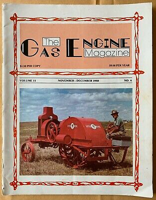 1980 GAS ENGINE MAGAZINE – Little Devil - Cletrac - Cummins Hvid  -Adams Company