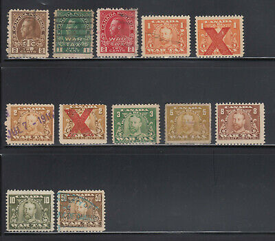 Canada Revenue Stamps // nice selection of War Tax Excise Stamps