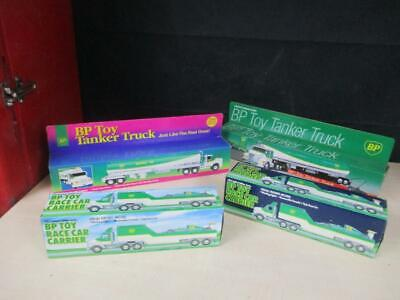Vintage Lot of 4 Collectible Diecast BP Trucks 1993, 1994, Toy Tanker RC NEW