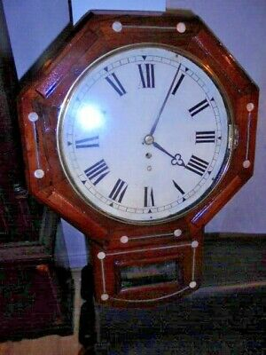 victorian fusee drop dial wall clock