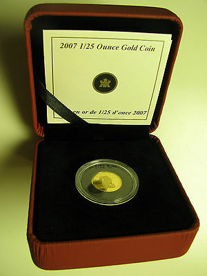 2007 Proof 50 cents GML #4-Wolf 1/25oz .9999 Gold Canada fifty (no outer box)