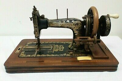 Antique Frister and Rossmann Hand Crank Sewing Machine - For Restoration