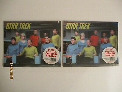 """Lot Of (2) Star Trek 8"""" X 10"""" Frameable Collector Posters 2006"""
