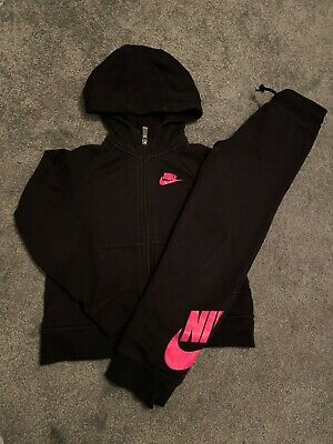 Girls Nike Full Set Tracksuit  Black/Pink Age 6/7 Years 2 day sale