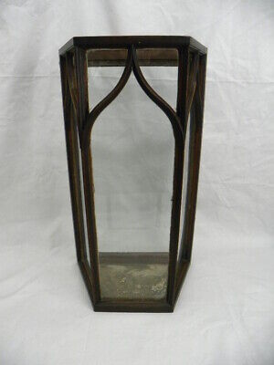 Antique English Georgian Gothic Style Display Case; Mahogany & Old Glass; C 1790