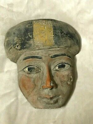 RARE EGYPT EGYPTIAN ANTIQUES Mask STATUE Pharaoh Old Face Carved STONE BCE
