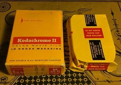NOS Vintage Kodachrome ll Color Movie Film Magazine For Double 8mm For Daylight