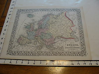 vintage map: 1874 Mitchell Map of Europe