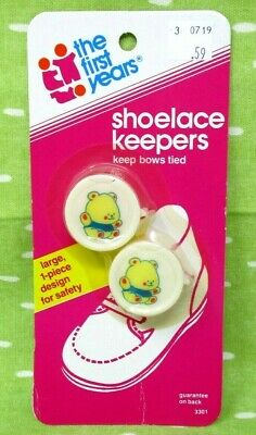 Vintage Baby Shoelace Keepers Teddy Bears The First Years 1983 80s  NOS