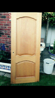 Three Beautiful Solid Oak Bespoke Victorian Hardwood Doors -Also sold separately