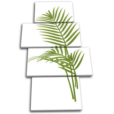 Leaves Botanical Green Tropical Floral MULTI CANVAS WALL ART Picture Print