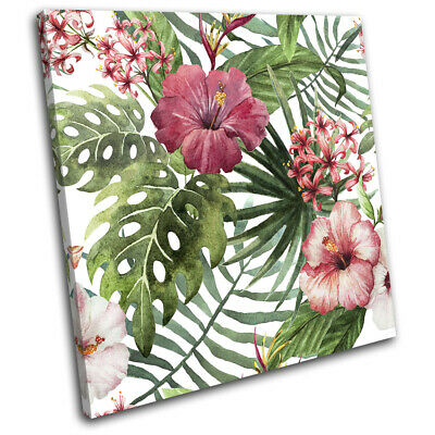 Botanical Monstera Tropical Leaf Floral SINGLE CANVAS WALL ART Picture Print
