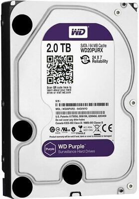 "Western Digital Purple 2TB SURVEILLANCE HARD DRIVE 3.5"" INTERNAL WD20PURX"