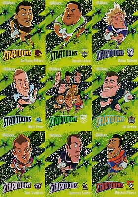 2020 Nrl Traders Startoons Green Full Set - 18 Cards - Trbojevic, Milford, Prior