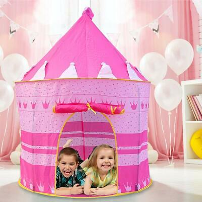 Childrens Kids Baby Pop Up Play Tent Fairy Girls Boys Playhouse Indoor Pink UK