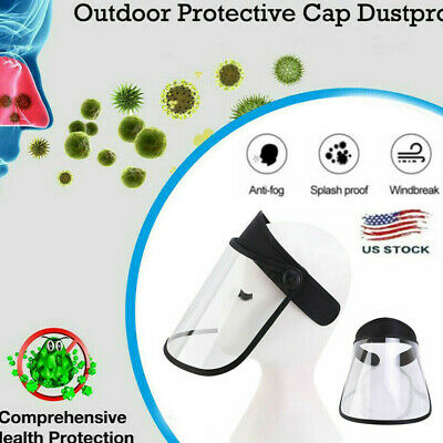 Transparent Adjustable Full Face Shield Plastic Anti-fog Protective Mask Cover A