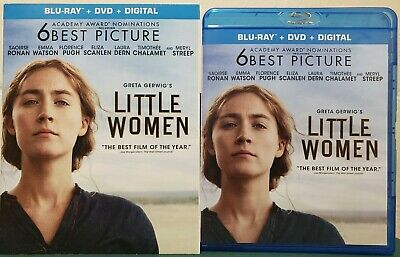 LITTLE WOMEN (Blu-ray + DVD + Slipcover, 2019, No Digital) Like New Never Played