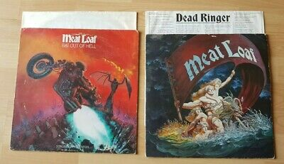 Meat Loaf - Dead Ringer and Bat out of Hell Vinyl Record LP Album - 1981 & '77