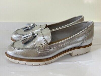 KURT GEIGER KG Silver real leather loafers size 5 euro 38 worn once