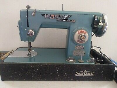 Vintage Morse R-5LAD Light-Weight Sewing Machine With Original Case Rare Find!!!