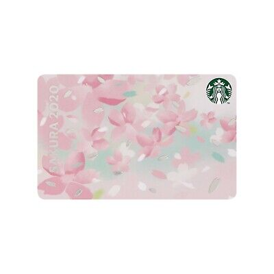 Starbucks Japan SAKURA 2020 Breeze Gift Card NEW with sleeve Cherry Blossoms