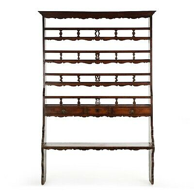CARVED PINE CUPBOARD | French Provincial Antique Bookcase, 18th Century