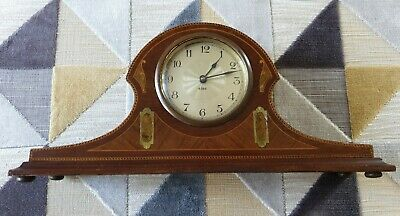 Antique Inlaid Mahogany Mantle Mechanical Wind Up Clock Spares Repairs