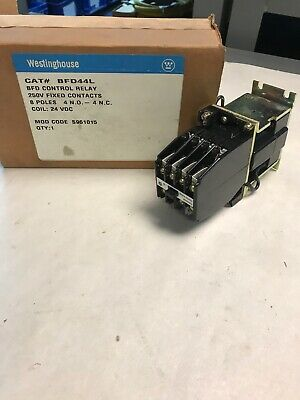Westinghouse BFD44L Control Relay