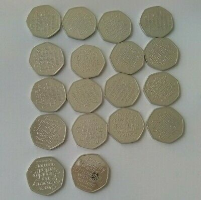 Brexit 50p Coins 2020 from Sealed Bag x18 UNCIRCULATED Coins