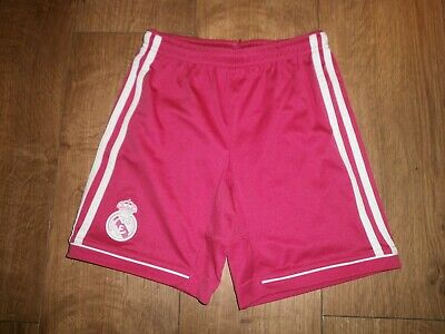 Girls climacool adidas pink shorts age 9-10 years.