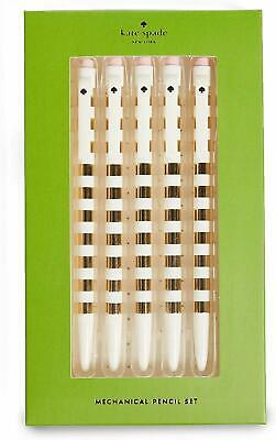 Kate Spade New York Women's Gold Stripe Pencil Set