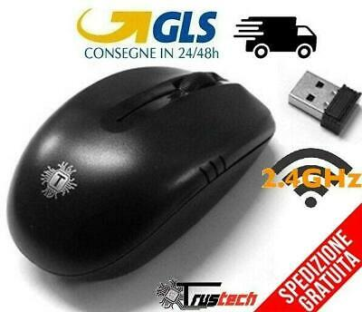 Mouse Wireless Senza Fili Ottico Usb 2,4 Ghz Wifi Laser Pc Notebook Computer