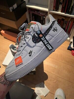Nike Air Force 1 White Just Do It UK 9