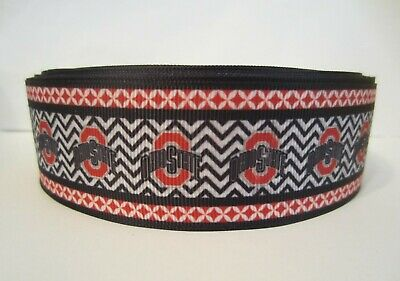 Grosgrain 1.5 Inch Ohio State Football Ribbon For Hair Bows Diy Crafts